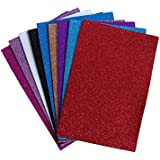 Satyam Kraft Pack Of 10 A4 Size Eva Foam Glitter Sheets - For Crafts, Home. Office, Party Decorations, Diy Crafts (Assorted Colors)