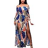 NPRADLA 2018 Frauen Sommer Boho Lang Maxi Kleid Abend Party Strandkleid Sommerkleid