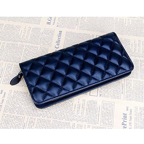 Heart&M Mode Volltonfarbe kurze Schaffell Rhombus Geldbörse Clutch-Tasche 1