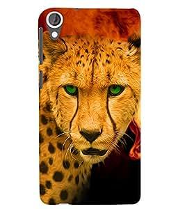 Citydreamz Cheetah Hard Polycarbonate Designer Back Case Cover For HTC Desire 628
