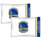 NBA 2pc Golden State Guerreros Funda de Almohada de Baloncesto Logo del Equipo Ropa de Cama Fundas de Almohada