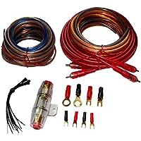 AERZETIX: Juego de cables cableado para montaje de amplificador auto alimentacion potencia 8mm2 su RCA fusible C12349