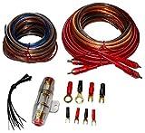Aerzetix: Kit cavi cablaggio per montaggio amplificatore amplificatore auto alimentazione 8mm2suo RCA Fusibile