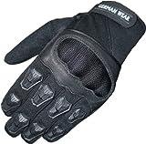 Motocross Motorradhandschuhe Sommer Motorrad Biker Handschuhe Textilhandschuhe Schwarz, Size:10=XL