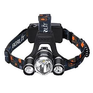 Linterna Frontal de VicTsing 5000 Lumen LED de bicicleta/faro/frontal/lámpara de cabeza / 3 X CREE XM-L XML T6 luz de bicicleta + Cable USB de carga [Clase de eficiencia energética A+]