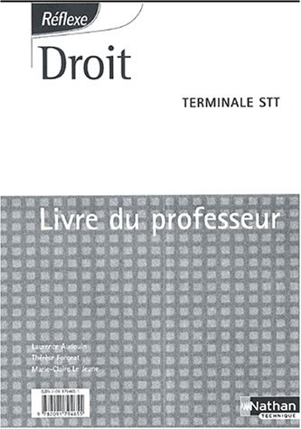 Droit Tle STT : Livre du professeur