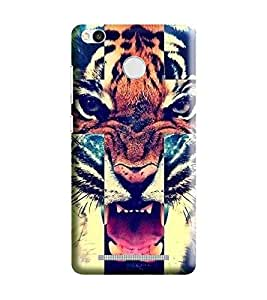 HiFi Designer Phone Back Case Cover Redmi 3s Prime :: Xiaomi Redmi 3s Prime :: Redmi 3s Prime (WITH FINGER PRINT HOLE) :: Redmi3s Prime :: Xiaomi3s Prime :: Mi 3s Prime :: Redmi 3sPrime :: Xiaomi Redmi 3sPrime :: Mi 3sPrime ( Tiger Face Angry Cross )