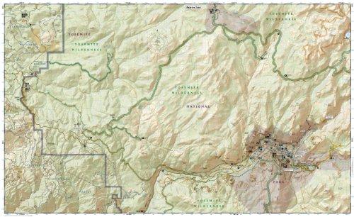 Yosemite SW: Yosemite Valley and Wawona (National Geographic Trails Illustrated Map)