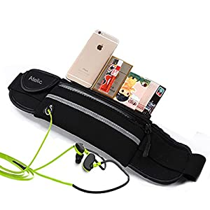 #1 Sac de taille, Atelic® Waist Pack Running Bag Belt Pouch Men Women Water Resistant Reflective Runner for Running Hiking Trip Pack Fitness Gym Outdoor Cycling Apple iPhone 6 Plus Samsung HUAWEI Big 6