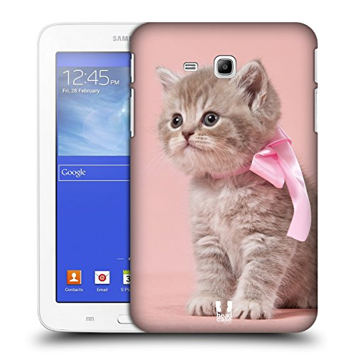 Head Case Designs Bamboo Floreale Lacche Cover Morbida In Gel Per Apple iPhone 7 Plus / 8 Plus Gattino Con Arco Rosa