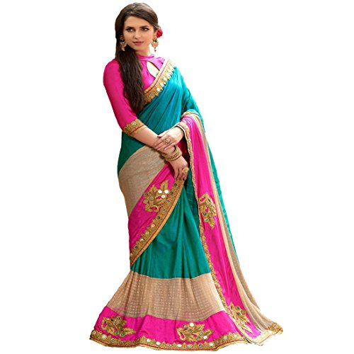 Sarees (Welcome Fashion Women\'s Clothing Georgette ,Chiffon, Paper Cotton Silk, Laycra Net Printed Blue Pink Bollywood Style Designer Wear Low Price Sale Offer buy online in Georgette Net Material Ne