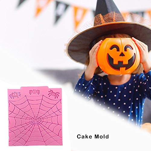 Ingeniously Spinne Kuchenform Halloween Spinnennetz Form Fondant Silikonform Silikonform Antihaft BPA Frei Silikon Gummi Formen für Küche Backen Kuchen Dekoration Werkzeug