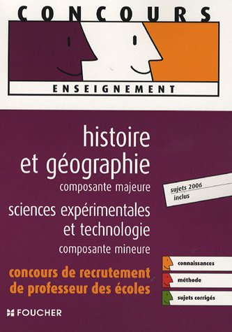 HIST-GEO MAJEURE SCIENCES EXPERIMENTALES  (Ancienne édition)