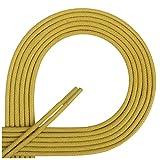 Di Ficchiano DF-SW-03-mustard-150 Gewachste Runde Schnürsenkel, Schuband, Laces, Durchmesser 2-4 mm für Businessschuhe, Anzugschuhe und Lederschuhe