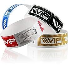 linie zwo®, Pack de 1.000 pulseras de seguridad Tyvek® 19 mm VIP, Azul