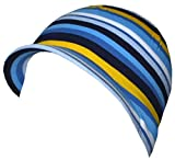 maximo Jersey Stripes Kindermütze Baumwollmütze Mütze Cap Mützchen mit Schirm Kindermütze Sommermütze (47 cm - blau)