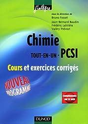 Chimie Tout-en-un 1ère année PCSI : Cours et exercices corrigés