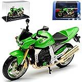 Atlas Kawasaki Z1000 Grün mit Sockel und Vitrine 1/24 Modell Motorrad mit individiuellem...
