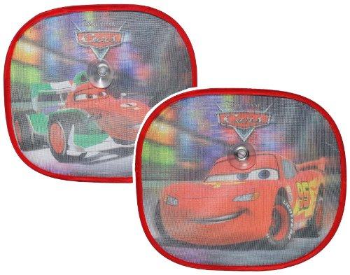 2 TLG. Set Sonnenschutz Disney Cars Lightning McQueen 35 cm * 31 cm - für Seitenscheibe / Sonnenblende für Kinder Auto Mc Queen Autos Sichtschutz Jungen Baby ..