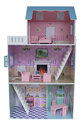Liberty House Toys ``Townhouse`` Dollhouse with Furniture (Multi-Colour)