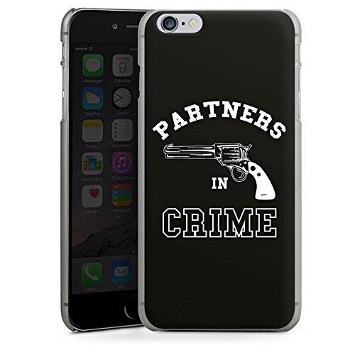 Apple iPhone X Silikon Hülle Case Schutzhülle Pistole Partner freundschaft Hard Case anthrazit-klar