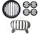 #5: Andride Rear Customized Headlight Heavy Grill And Indicator Grill With Tail Light For Royal Enfield Thunderbird 350/500 (Black)