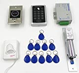 NAVKAR Imported 1000-user RFID Access Control System Kit w/ Electric Lock ID Keyfob Doorbell