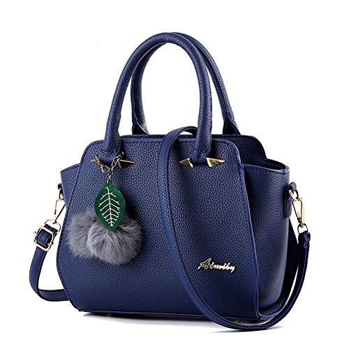 Donna Borse a Mano Messenger Bag Totes Borsa A Tracolla Gomma Rosa Blu Marino