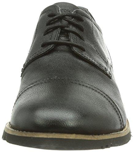 Rockport Lh2 Cap Oxford, Derbies à lacets homme Noir - Noir