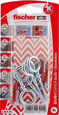 Fischer DUOPOWER 6x30 OH K (4) Art. 535226 Menge: 1
