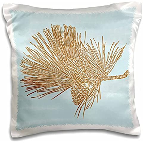 PS Creations - Pinecones - Nature Art - 16x16 inch Pillow Case