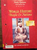 Daily Quizzes With Answer key, World History: People & Nations