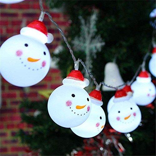 Bestllin LED Schneemann Lichterkette für Garten Haus Hochzeit Weihnachten Party batteriebetrieben Metall 110W warmweiß