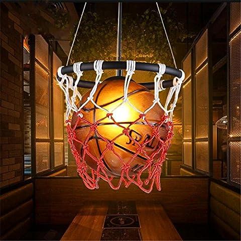 Kreative Basketball Form Deckenlampe, Retro Country Style, Thema Restaurant Cafe Bar Dekorative Pendelleuchte