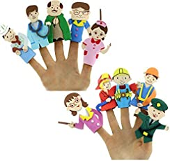 Themez Only Finger Puppet Eva Community Helpers Educational Toy Story Telling Aid (TOY-FIN-PUP-COM-HELP)