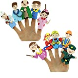 EVA FINGER PUPPETS - COMMUNITY HELPERS - Set of 10 people - Interesting Story Telling