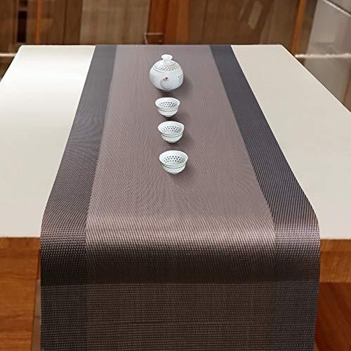MMD Moderne Einfachheit Tischläufer Tee Tisch PVC Streifen Tischdecke Mode (größe : 30 * 150cm) -