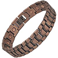 Brushed Link Magnetic Copper Bracelet - Pure Copper, 17 Magnets, Adjustable Bangle - For Men and Women (TANK) preisvergleich bei billige-tabletten.eu