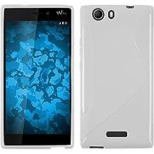 Funda de silicona para Wiko Ridge 4G - S-Style blanco - Cover PhoneNatic Cubierta + protector de pantalla