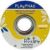 3D Printlife PLAyPHAb 1,75mm Natur PLA/PHA Mischung 3D-Drucker Filament, Maßhaltigkeit <+/- 0,05 mm, Natur - gut und günstig