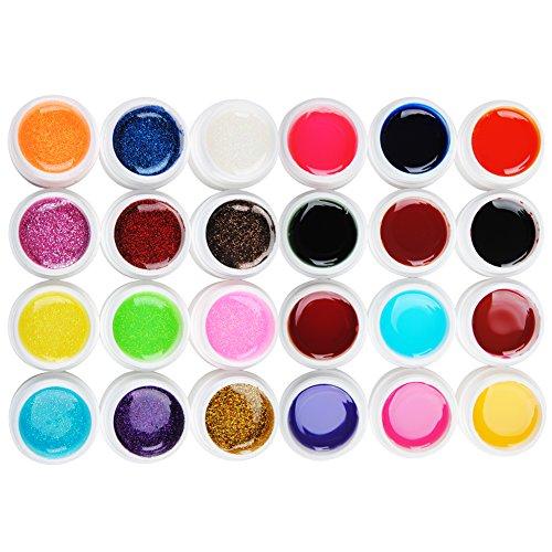 Coscelia Manucure Gel UV Paillette Glittery et Transparent Nail Art Kits