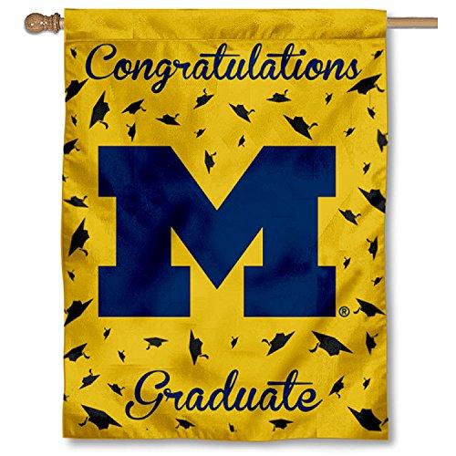 College Flaggen und Banner CO. Michigan Wolverines Graduierung Geschenk Banner Flagge