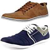 #7: T-Rock Men's Combo Pack Sneaker Tan & Blue Casual Shoes