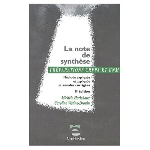 La note de synthèse. Méthode expliquée et appliquée et annales corrigées, 8ème édition