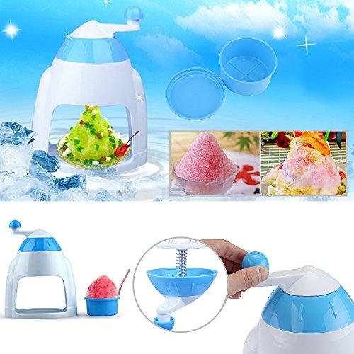 Eis Für Kegel (Inovey Tragbare Handkurbel Manuelle Eis Crusher Rasierer Zerkleinern Schnee Kegel Maker Maschine Küchengerät)