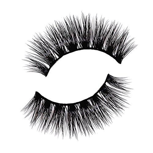 JUNGEN Faux Noir Cils Professional Parfaits volumineux Cils Naturel fait à la main dense et Long Maquillage Main Messy Croisement yeux eyelashes Pour Femme Fille 1 Pair
