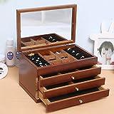 myun Hochwertige Holz Schmuck Aufbewahrungsbox, Schmuckschatulle, Schublade Schmuckschatulle, Europäischen Schmuck Ring Ohrringe Schmuck Aufbewahrungsbox,2