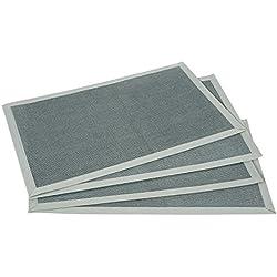 Manteles individuales Culinato® gris de rafia, decorativos, modernos y resistentes en un juego de 4 unidades (45x30cm respectivamente)