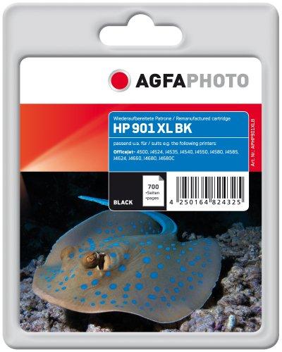 AgfaPhoto APHP901XLB Tinte für HP OJJ4580 mit Chip, 22 ml, schwarz