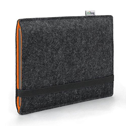 Stilbag e-Reader Hülle Finn für Tolino Epos   Wollfilz anthrazit/orange   Schutzhülle Made in Germany